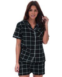 Brave Soul Check Pyjama Set - Black