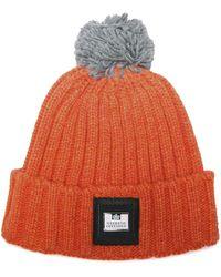 Weekend Offender Gerdai Knit Bobble Hat - Orange