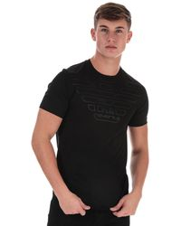 Armani Outline Eagle Logo T-shirt - Black