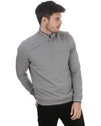Ted Baker Peanot Half Zip Sweatshirt - Grey