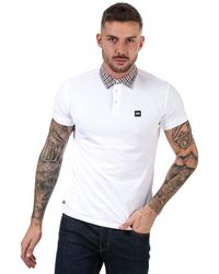 Weekend Offender Chrome Check Polo Shirt - White