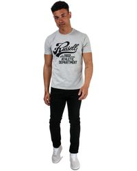 Russell Athletic Script Crew T-shirt - Grey