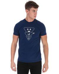 Armani Emoji Logo T-shirt - Blue