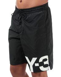 Y-3 Large Logo Swim Shorts - Black