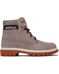 Caterpillar Lyric Corduroy Boots - Brown