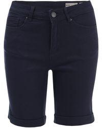 Vero Moda Hot Seven Long Shorts - Blue
