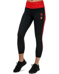 adidas Own The Run Valentine 7/8 Tights - Black