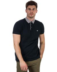 Weekend Offender Calli Check Collar Polo Shirt - Blue