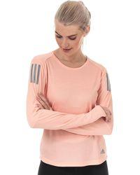 adidas Own The Run Long Sleeve T-shirt - Pink