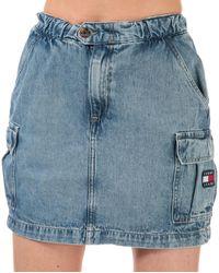 Tommy Hilfiger Denim Cargo Mini Skirt - Blue