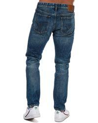 Calvin Klein Straight Taper Fit Jeans - Blue