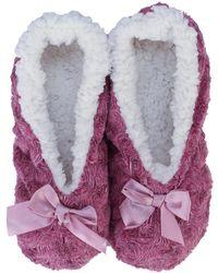 Brave Soul Bow Slipper Socks - Pink