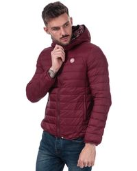 Pretty Green Barker Lightweight Quilted Jacket - Red