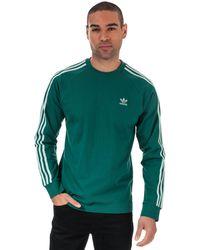 adidas Originals 3-stripes Long Sleeve T-shirt - Green