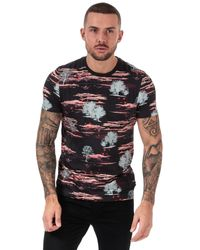 Ted Baker Happie Printed Cotton T-shirt - Red