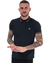 Weekend Offender Liberty Tipped Polo Shirt - Blue