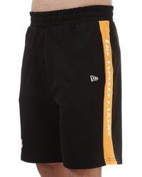 KTZ Contrast Los Angeles Lakers Shorts - Black