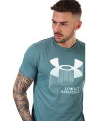 Under Armour Big Logo Wordmark T-shirt - Blue