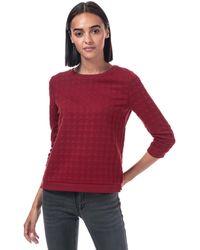 ONLY Mynthe Joyce Crew Sweatshirt - Red