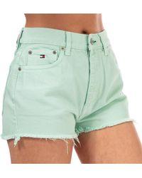 Tommy Hilfiger 90's High Waist Denim Shorts - Blue