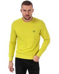 C.P. Company Light Fleece Crew Neck Sweatshirt - Yellow