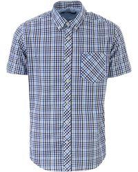 Ben Sherman Ss House Check Shirt - Blue