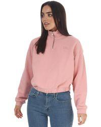 Levi's Pom Quarter Zip Sweatshirt - Pink