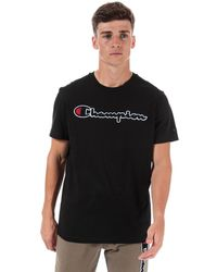 Champion Large Logo T-shirt - Black