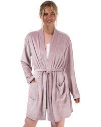 Calvin Klein Textured Robe - Pink