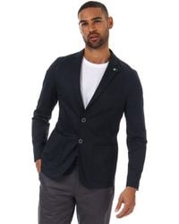 Ted Baker Cliford Piece Dyed Cotton Blazer - Blue