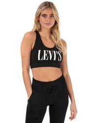 Levi's Logo Sports Bra - Black