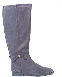 Ted Baker Lykla Knee High Boots - Grey