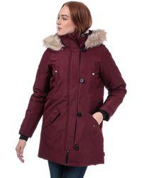 Vero Moda Excursion Expedition Parka Jacket - Purple