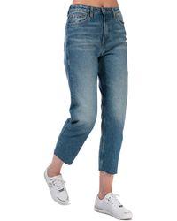 Tommy Hilfiger Harper Straight Fit Stonewashed Jeans - Blue