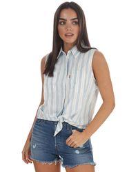 Levi's Alina Sleeveless Shirt - Blue