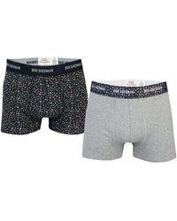 Ben Sherman 2 Pack Christian Boxer Shorts - Grey