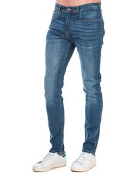 Duck and Cover Overbug Tapered Jeans - Blue