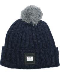 Weekend Offender Gerdai Knit Bobble Hat - Blue