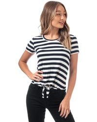 ONLY Arli Knot Striped T-shirt - White