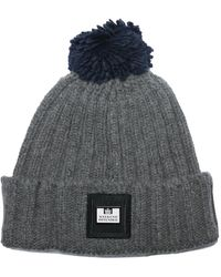 Weekend Offender Gerdai Knit Bobble Hat - Grey