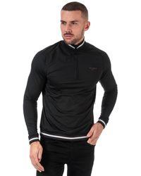 Ted Baker Half Zip Funnel Neck Sweatshirt - Black