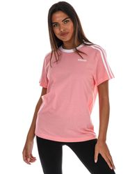 adidas 3-stripes Essential Boyfriend T-shirt - Pink