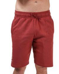 Under Armour Rival Fleece Multilogo Shorts - Red