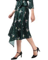Ted Baker Anabell Asymmetric Midi Skirt - Green