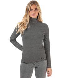 Levi's Stripe Turtleneck Knit Top - Black