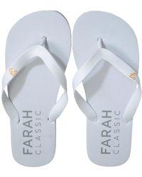 Farah Shore Flip Flop Beach Shoe - White