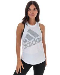 adidas Badge Of Sport Tank Top - White