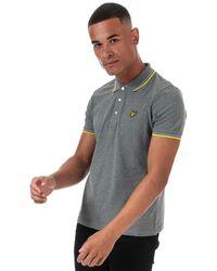 Lyle & Scott Tipped Polo Shirt - Grey