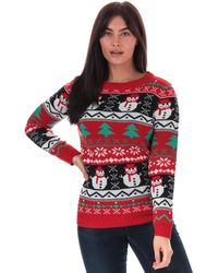 Brave Soul Merry Christmas Jumper - Red