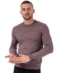 Ted Baker Talkoo Geo Knit Wool Jumper - Pink